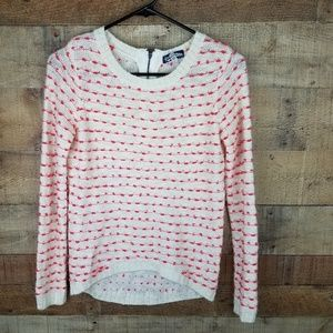 Freshman 1996 Cream and Pink knot Sweater Xs
